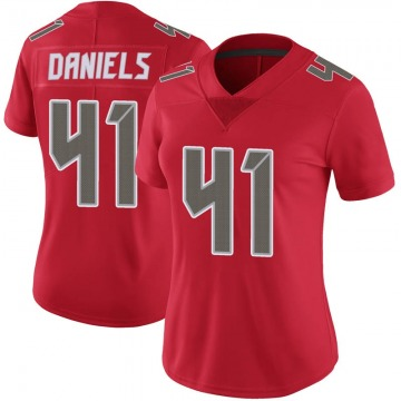 Women's Nike Tampa Bay Buccaneers Kahzin Daniels Red Color Rush Jersey - Limited