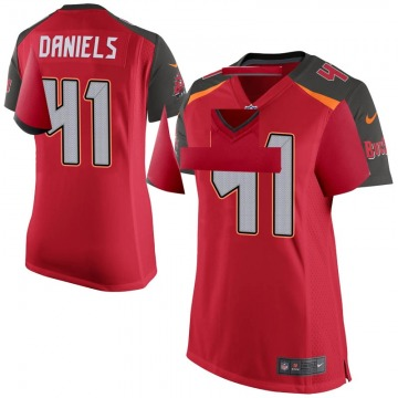 Women's Nike Tampa Bay Buccaneers Kahzin Daniels Red Team Color Jersey - Game