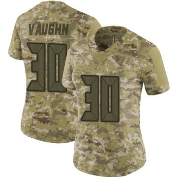 Women's Nike Tampa Bay Buccaneers Ke'Shawn Vaughn Camo 2018 Salute to Service Jersey - Limited