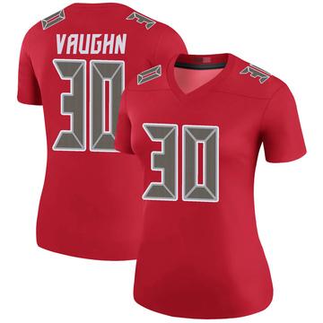 Women's Nike Tampa Bay Buccaneers Ke'Shawn Vaughn Red Color Rush Jersey - Legend