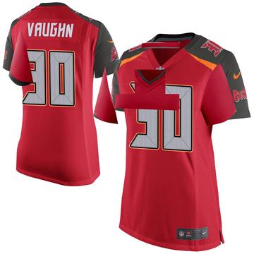Women's Nike Tampa Bay Buccaneers Ke'Shawn Vaughn Red Team Color Jersey - Game