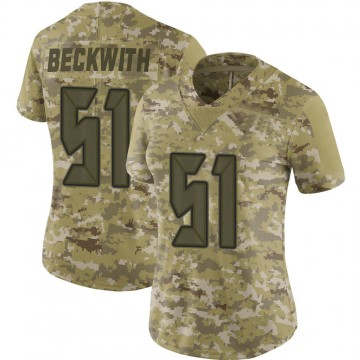 Women's Nike Tampa Bay Buccaneers Kendell Beckwith Camo 2018 Salute to Service Jersey - Limited