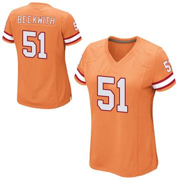 Women's Nike Tampa Bay Buccaneers Kendell Beckwith Orange Alternate Jersey - Game