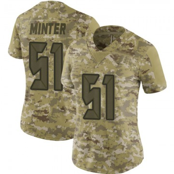 Women's Nike Tampa Bay Buccaneers Kevin Minter Camo 2018 Salute to Service Jersey - Limited