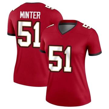 Women's Nike Tampa Bay Buccaneers Kevin Minter Red Jersey - Legend