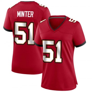 Women's Nike Tampa Bay Buccaneers Kevin Minter Red Team Color Jersey - Game