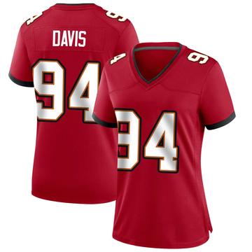 Women's Nike Tampa Bay Buccaneers Khalil Davis Red Team Color Jersey - Game