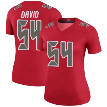 Women's Nike Tampa Bay Buccaneers Lavonte David Red Color Rush Jersey - Legend