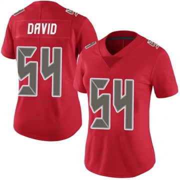 Women's Nike Tampa Bay Buccaneers Lavonte David Red Team Color Vapor Untouchable Jersey - Limited