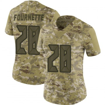Women's Nike Tampa Bay Buccaneers Leonard Fournette Camo 2018 Salute to Service Jersey - Limited