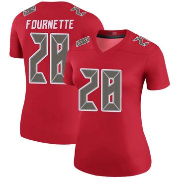 Women's Nike Tampa Bay Buccaneers Leonard Fournette Red Color Rush Jersey - Legend