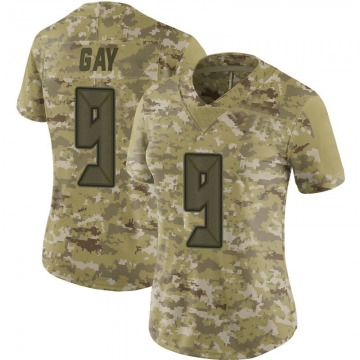 Women's Nike Tampa Bay Buccaneers Matt Gay Camo 2018 Salute to Service Jersey - Limited