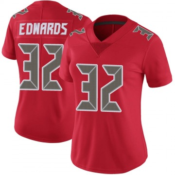 Women's Nike Tampa Bay Buccaneers Mike Edwards Red Color Rush Jersey - Limited