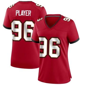 Women's Nike Tampa Bay Buccaneers Nasir Player Red Team Color Jersey - Game