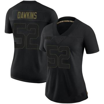 Women's Nike Tampa Bay Buccaneers Noah Dawkins Black 2020 Salute To Service Jersey - Limited