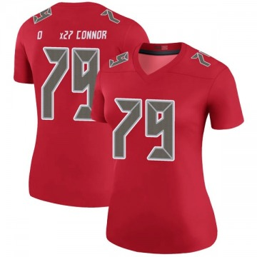 Women's Nike Tampa Bay Buccaneers Patrick O'Connor Red Color Rush Jersey - Legend