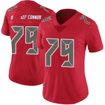 Women's Nike Tampa Bay Buccaneers Patrick O'Connor Red Color Rush Jersey - Limited