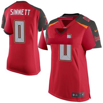 Women's Nike Tampa Bay Buccaneers Reid Sinnett Red Team Color Jersey - Game