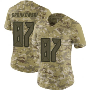 Women's Nike Tampa Bay Buccaneers Rob Gronkowski Camo 2018 Salute to Service Jersey - Limited