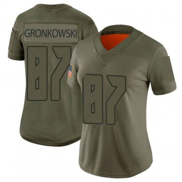 Women's Nike Tampa Bay Buccaneers Rob Gronkowski Camo 2019 Salute to Service Jersey - Limited