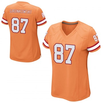 Women's Nike Tampa Bay Buccaneers Rob Gronkowski Orange Alternate Jersey - Game