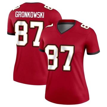 Women's Nike Tampa Bay Buccaneers Rob Gronkowski Red Jersey - Legend