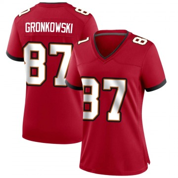 Women's Nike Tampa Bay Buccaneers Rob Gronkowski Red Team Color Jersey - Game