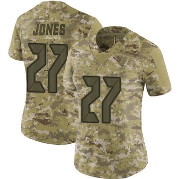 Women's Nike Tampa Bay Buccaneers Ronald Jones Camo 2018 Salute to Service Jersey - Limited