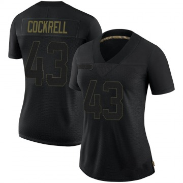 Women's Nike Tampa Bay Buccaneers Ross Cockrell Black 2020 Salute To Service Jersey - Limited