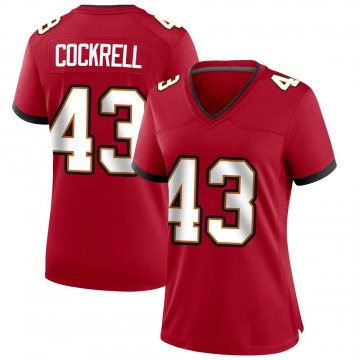 Women's Nike Tampa Bay Buccaneers Ross Cockrell Red Team Color Jersey - Game