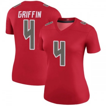 Women's Nike Tampa Bay Buccaneers Ryan Griffin Red Color Rush Jersey - Legend