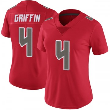 Women's Nike Tampa Bay Buccaneers Ryan Griffin Red Color Rush Jersey - Limited