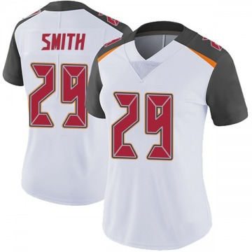 Women's Nike Tampa Bay Buccaneers Ryan Smith White Vapor Untouchable Jersey - Limited