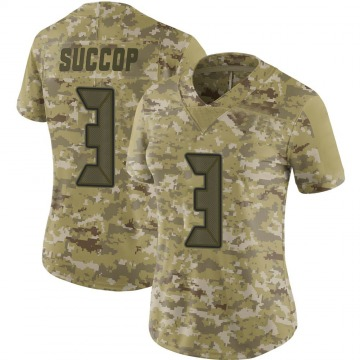 Women's Nike Tampa Bay Buccaneers Ryan Succop Camo 2018 Salute to Service Jersey - Limited