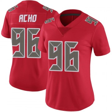 Women's Nike Tampa Bay Buccaneers Sam Acho Red Color Rush Jersey - Limited