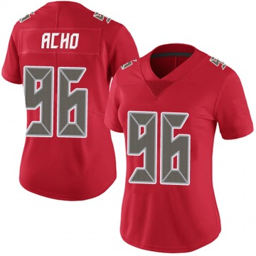 Women's Nike Tampa Bay Buccaneers Sam Acho Red Team Color Vapor Untouchable Jersey - Limited