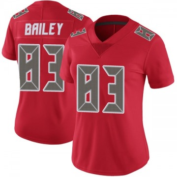 Women's Nike Tampa Bay Buccaneers Sergio Bailey Red Color Rush Jersey - Limited