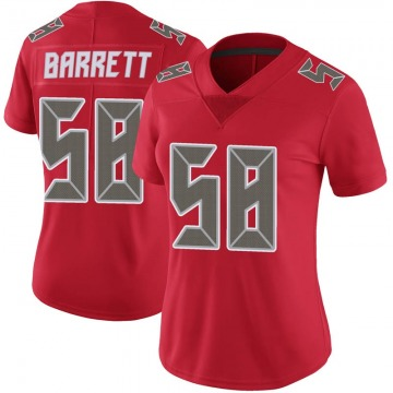Women's Nike Tampa Bay Buccaneers Shaquil Barrett Red Color Rush Jersey - Limited