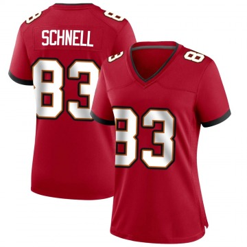 Women's Nike Tampa Bay Buccaneers Spencer Schnell Red Team Color Jersey - Game