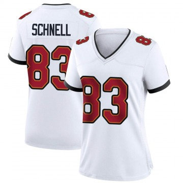 Women's Nike Tampa Bay Buccaneers Spencer Schnell White Jersey - Game