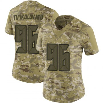 Women's Nike Tampa Bay Buccaneers Stevie Tu'ikolovatu Camo 2018 Salute to Service Jersey - Limited
