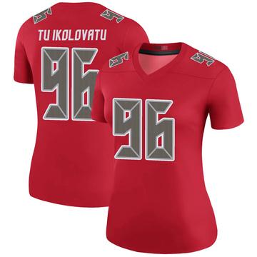 Women's Nike Tampa Bay Buccaneers Stevie Tu'ikolovatu Red Color Rush Jersey - Legend