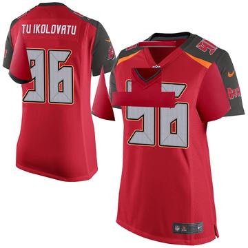 Women's Nike Tampa Bay Buccaneers Stevie Tu'ikolovatu Red Team Color Jersey - Game