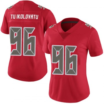 Women's Nike Tampa Bay Buccaneers Stevie Tu'ikolovatu Red Team Color Vapor Untouchable Jersey - Limited