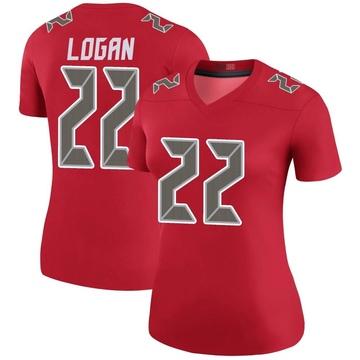 Women's Nike Tampa Bay Buccaneers T.J. Logan Red Color Rush Jersey - Legend