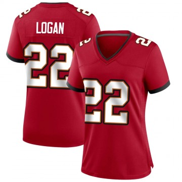 Women's Nike Tampa Bay Buccaneers T.J. Logan Red Team Color Jersey - Game