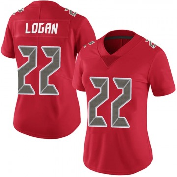 Women's Nike Tampa Bay Buccaneers T.J. Logan Red Team Color Vapor Untouchable Jersey - Limited