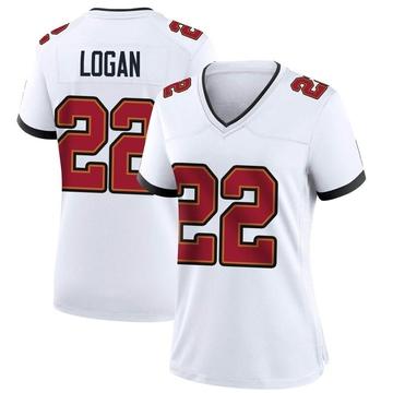 Women's Nike Tampa Bay Buccaneers T.J. Logan White Jersey - Game