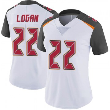 Women's Nike Tampa Bay Buccaneers T.J. Logan White Vapor Untouchable Jersey - Limited