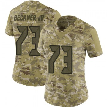 Women's Nike Tampa Bay Buccaneers Terry Beckner Jr. Camo 2018 Salute to Service Jersey - Limited